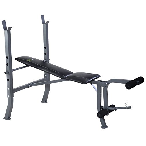 Goplus Adjustable Bench Weight Lift Flat Incline Bench Fitness Body Strength Workout Equipment