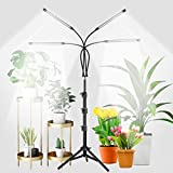 GHodec 4-Head Grow Light with Stand, 80 LED 5500K