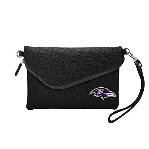 NFL Baltimore Ravens Pebble Fold Over Crossbody Purse (Cross Body Raven)