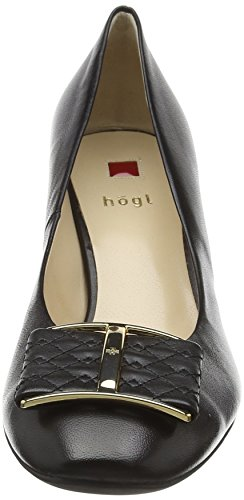de HÖGLBlock Black Heel 0100 Mujer Zapatos Tacón Negro Court qTR7xp