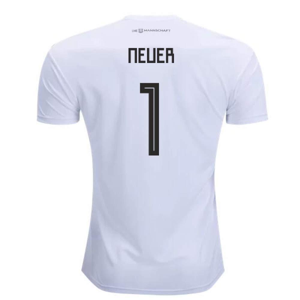 9c4beedd4 2018-2019 Germany Home Adidas Football Soccer T-Shirt Camiseta (Manuel  Neuer 1): Amazon.es: Deportes y aire libre