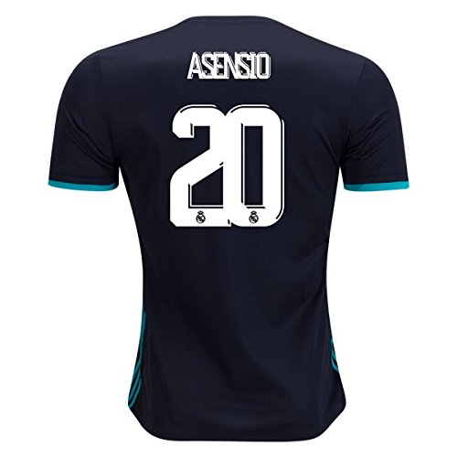 ASENSIO #20 REAL MADRID 17/18 Away Soccer Jersey Men's Color BLACK Size XL (20 Away Soccer Jersey)