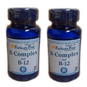 Fierté vitamine B complexe et la vitamine B12 90 comprimés 2 bouteilles de Puritan