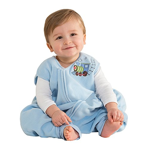 HALO Early Walker SleepSack Micro Fleece Wearable Blanket, Blue, Medium (Discontinued by Manufacturer)