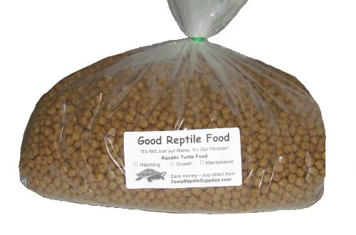 Aquatic Turtle Food Maintenance 11 Lbs Bulk for Adult Aquatic Turtles New 1/4 Inch Pellet Size by Good Reptile Food
