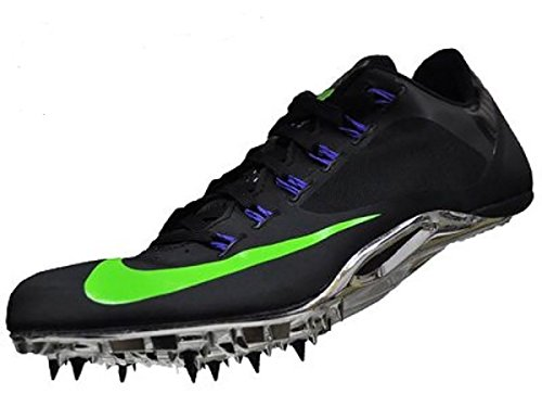 Nike Zoom Superfly R4 Unisex Track & Field Spikes (13 D(M), Black/Green Strike-Purple) ()