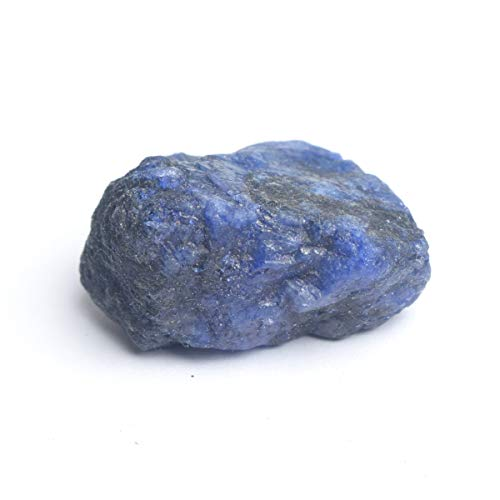 - Gemhub Healing Crystal Blue Sapphire 115.00 Ct. Natural Untreated Rough Certified Sapphire Stone for Jewelry