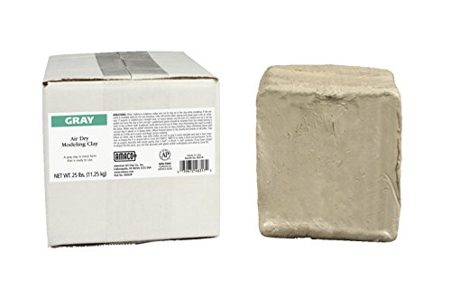AMACO 46317P 25 -Pound Air Dry Clay, Moist, Gray (People Sculptures)