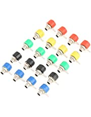 Conectores hembra de conector tipo banana, 20 piezas de colores mezclados 4mm, amplificador de altavoz, conector macho banana