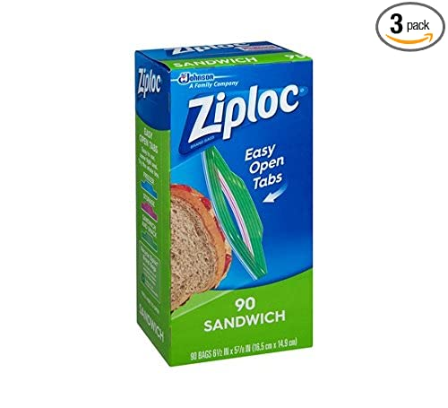Amazon.com: Glade Ziploc Sandwich Bag Value Pack, 90 Count (Pack of 3): Health & Personal Care