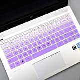 """iKammo Keyboard Cover Skins Compatible with 14"""" HP Pavilion x360 14M 14M-BA 14M-CD 14-BW 14-cm Series/HP Pavilion x360 2-in-1 14-BF040WM 14-BF050WM Laptop Cover 2 YS-14M-BT-Ombre Purple"""