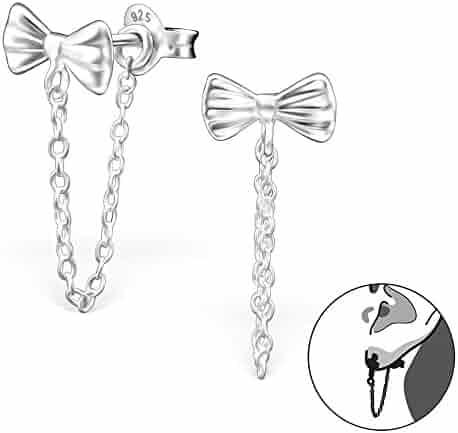 ICYROSE 925 Sterling Silver Dangling Sheep Hoop Earrings 22572