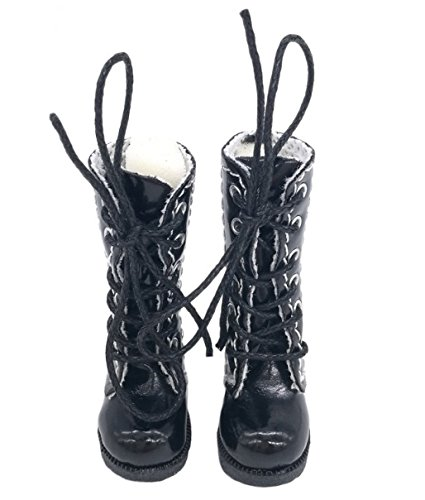 Studio one Glossy Black Shoes 3.2cm Doll Boots for Blythe Doll Best -