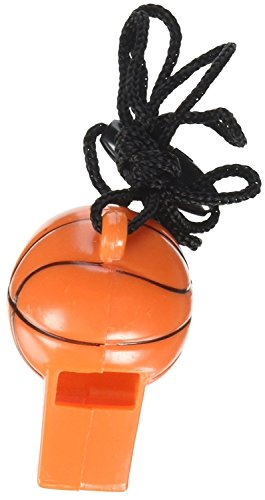 2 Pack of 12 Amscan Mini Basketball Whistles bundled by Maven Gifts -