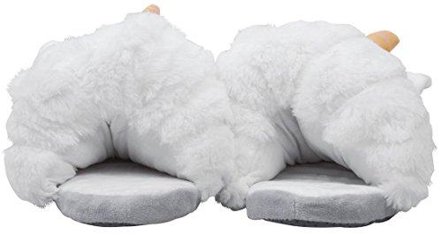 J&L - Zapatillas de estar por casa de algodón para mujer Blanco blanco 36-41 blanco