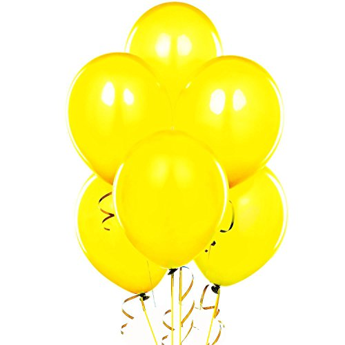 Qualatex 11 Inch Round Balloons, Yellow - Pack of 100 ()