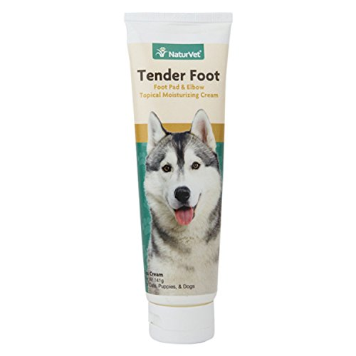 NaturVet Tender Foot, Foot Pad & Elbow Topical Moisturizing Cream for Cats, Puppies and Dogs, 5 oz Cream, Made in USA