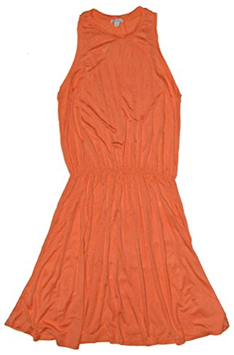 GAP Womens Orange Racerback Tank Knit Sun Summer Dress Small
