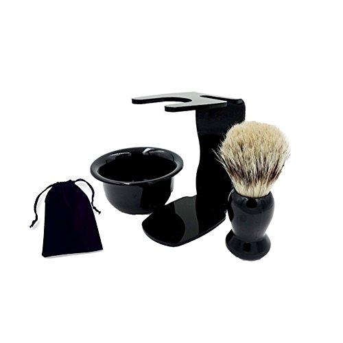 New Standard Safety Razor Stand Shaving Bowl Black Acrylic Stand Storage Holder Bristle Shaving Brush Kit + Bag Wet Shaving Set Loving Gift for Men
