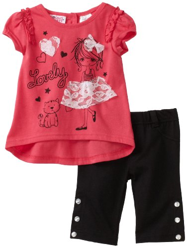 Young Hearts Baby Girls' Knit Top and Capri Pant Set