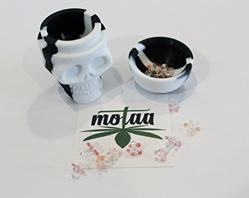 VMC Corporation 40+ Motaa Glass Daisy Screens with a 15ML FDA Silicon Food Grade Skull Container That has Other uses(Multi/Solid)