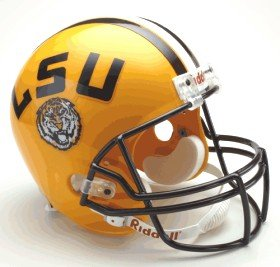 (Riddell NCAA LSU Tigers Deluxe Replica Football Helmet)