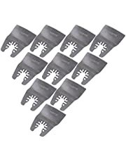 CNBTR Silver Oscillating Tool Quick Release Flexible Scraper Blade Multi Tool 52mm Width Stainless Steel Pack of 10