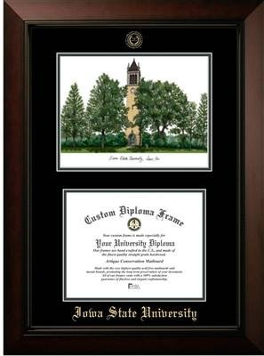 Iowa State University Campus Image Diploma Frame