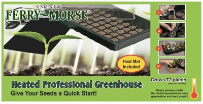 Ferry Morse Greenhouse - Ferry-Morse Seed Company KHEATGHS Heated Greenhouse Mat with Clear Dome Lid, Black