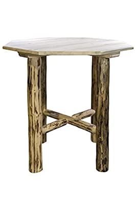Montana Woodworks Collection Bistro Table with Octagonal Table Top, Ready to Finish