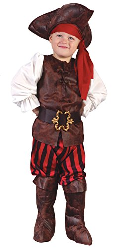 Fun World Costumes Baby Boy's Toddler Boy Highseas Buccaneer Costume, Brown/White, Small -