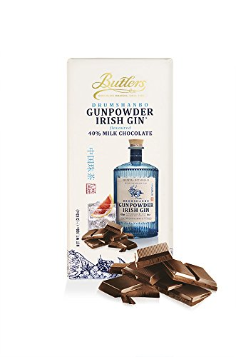 (Butlers Drumshanbo Gunpowder Irish Gin Flavoured Milk Chocolate bar,)