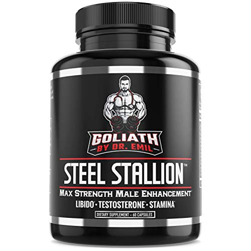 Goliath by Dr. Emil Steel Stallion - Male Enhancement Supplement - Libido and Testosterone Booster for Drive, Stamina, Muscle and Fat Loss (Yohimbe Enhanced Super Blend)