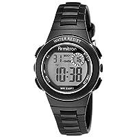 Armitron Sport - Reloj con correa de resina negra y cronógrafo digital 45 /7046BLK para mujer