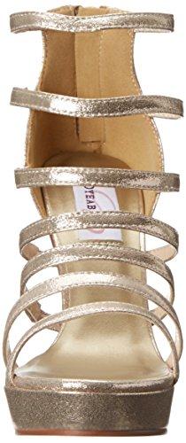 Dyeables, Inc Womens Lola Plattform Sandal Champagne