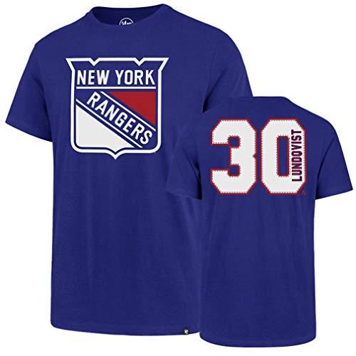 NHL New York Rangers Men's Player OTS Rival Tee, Henrik Lundqvist/Royal, X-Large
