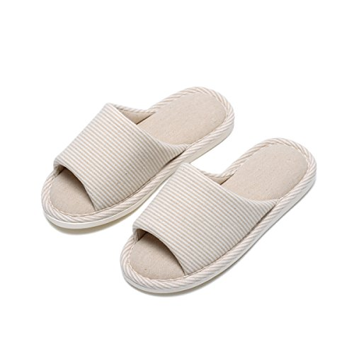 Pantoufles de Soins Plancher Maison Pantoufles Bois Maison Couple Chaussures ROMEYA Coton Femelle Intérieur Automne Hiver Pantoufles Mâle Beige Saisons Coton Printemps de en Coton xSUUwzqTPR