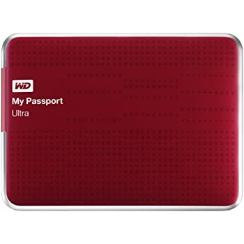 (Old Model) WD My Passport Ultra 1TB Portable External USB 3.0 Hard Drive with Auto Backup, Red