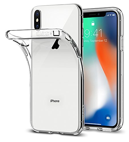 Spigen Liquid Crystal iPhone X Case with Slim Protection and Premium TPU for Apple iPhone X (2017) – Crystal Clear