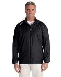 adidas Mens ClimaProof Three-Stripe Jacket-A169-SM-Black-White