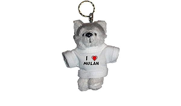 Shopzeus Llavero de Husky (Perro) de Peluche con Amo Mulan ...