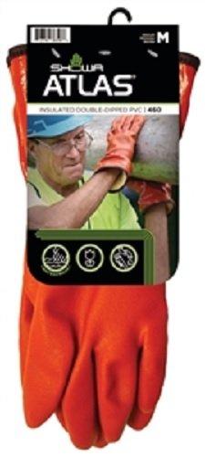 Atlas Men's 460 Orange PVC Insulated Gloves - Orange