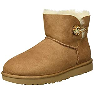 UGG Mini Bailey Button Bling, Classic Boot Femme