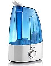 TaoTronics Humidificateur Bébé Humidificateur d'Air Maison Bébé 3,5L, 30W Filtre en Céramique Ultrafine, Double Buse à 360 Degrés, Protection Niveau d'Eau Bas, Voyant LED, Sortie de Brume 0 à 300mL/h