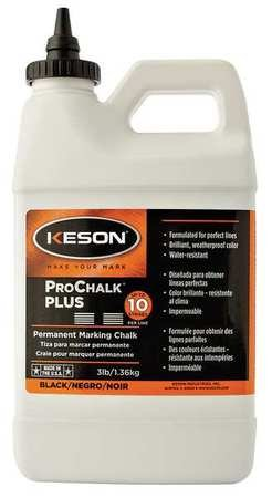 - KESON INDUSTRIES PM103BLK 3 lb Black PROCHALK PLUS Concentrated Marking Chalk Can