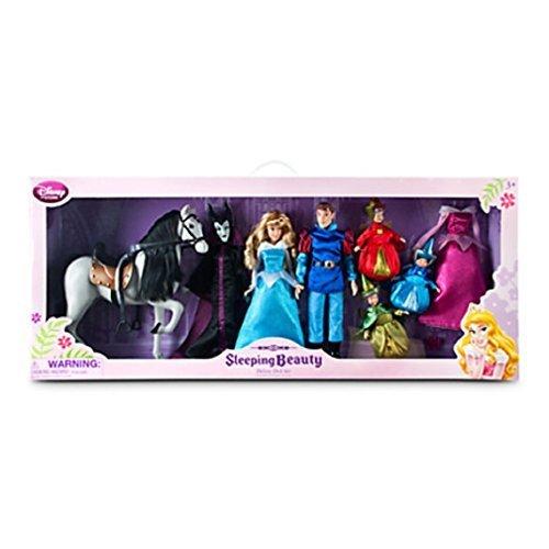 Disney - Sleeping Beauty Deluxe Doll Set Maleficent, Aurora, Phillip, Samson, Fairies