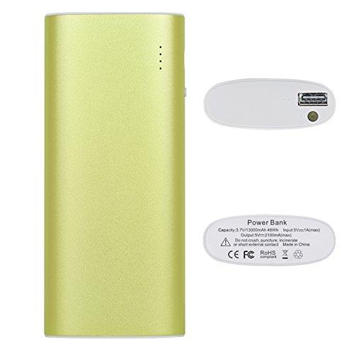iProtect 13000mAh Power Bank Une batterie externe et chargeur pour votre Smartphone et autres appareils avec une sortie USB. Un câble USB est inclus dans la livraison, câble Apple iPhone en métallic v