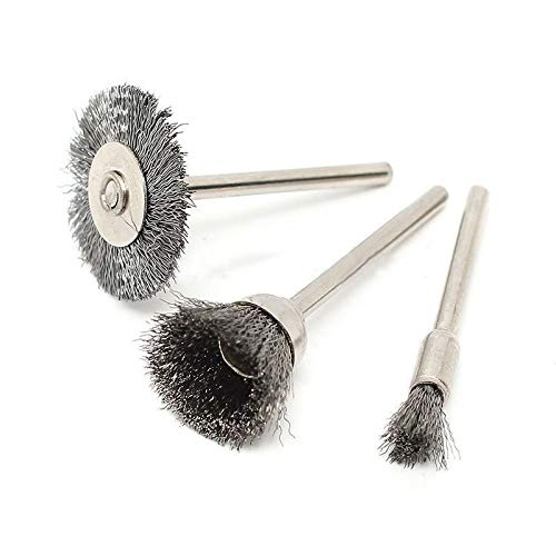 Yitaocity 45Pcs Steel Wire Wheel Pen Cup Brushes Set Kit Accessories for Dremel Rotary Tool Kit