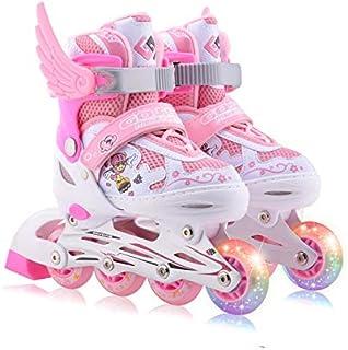 Patins à roulettes Enfants 3-12 Ans Hommes Et Femmes Inline Double Row Wheel Réglable Flash Wheel