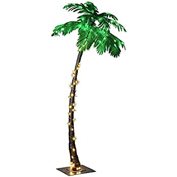 Lightshare Lighted Palm Tree Large  sc 1 st  Amazon.com & Amazon.com: Palm Tree Pre-strung with 300 lights 7u0027 tall Outdoor ... azcodes.com